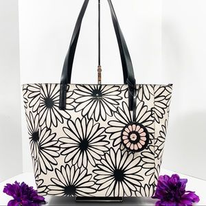NWT Kate Spade Rose Daisy Leather Tote